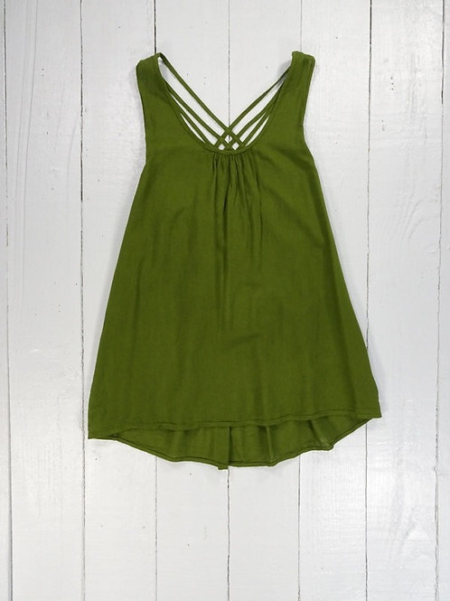 Strappy Vest Top - 4 Colours - 100% Cotton