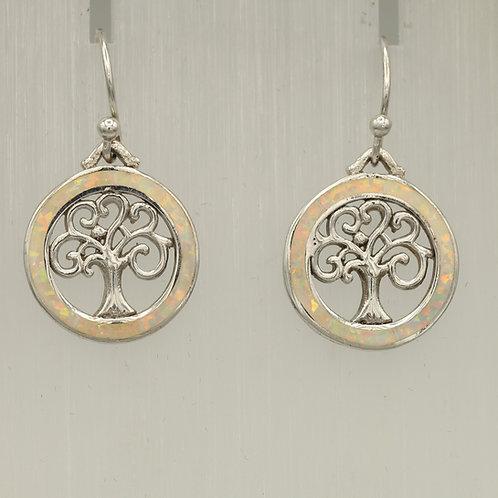 Gilson Opal Tree of Life Earrings