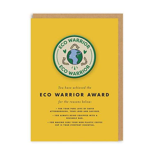 """""""Eco Warrior"""" Card with Patch"""