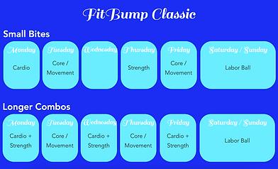 FitBump Classic Schedule
