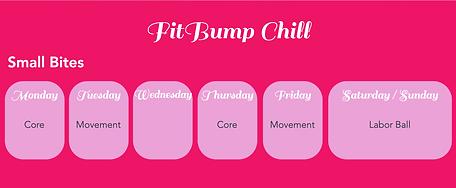 FitBump Chill Schedule