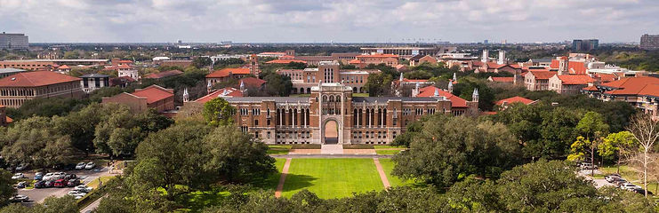 top view of rice university campus