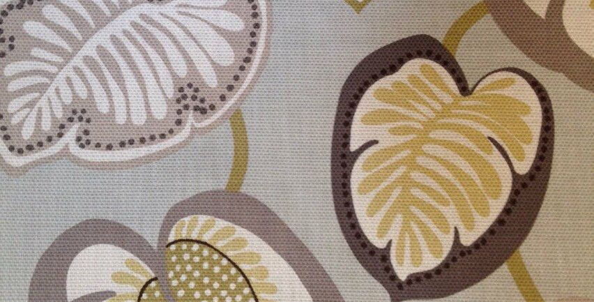 Modern Vining Leaves Fabric