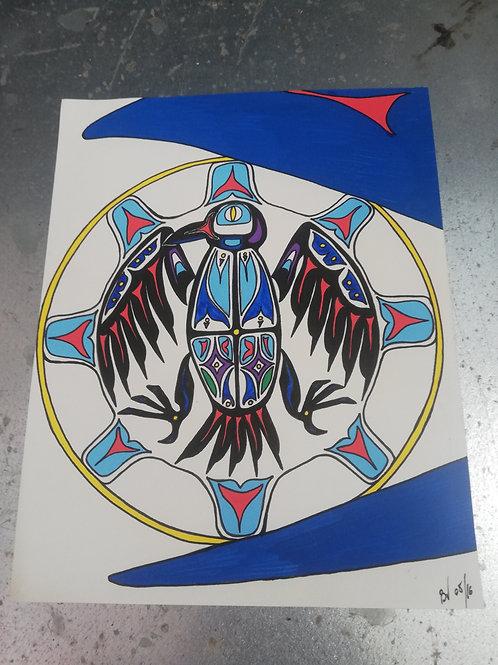 Le Corbeau qui vole le Soleil