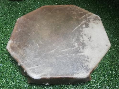 Tambour chamanique octogonal 43 cm chameau