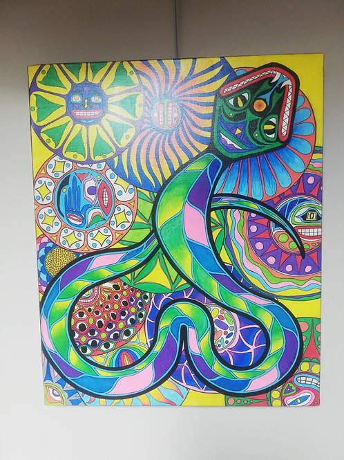 Le Serpent peinture sur toile