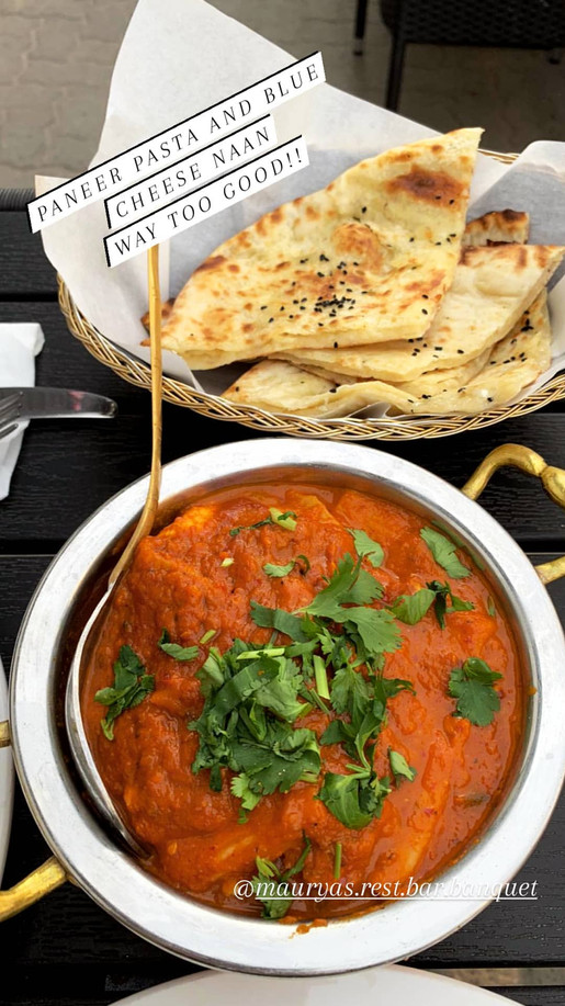 Gomitoni Paneer and blue cheese naan bread