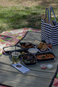 Riverside park, sun, food, drinks! YAY!