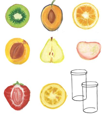 Brotaufstrich aus frischer Frucht