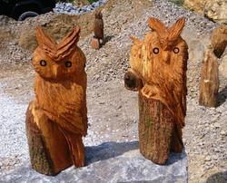 Holzskulpturen mit der Motorsäge