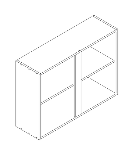1000mm Wall Cabinet