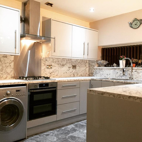 Grey Gloss Kitchen - Manchester
