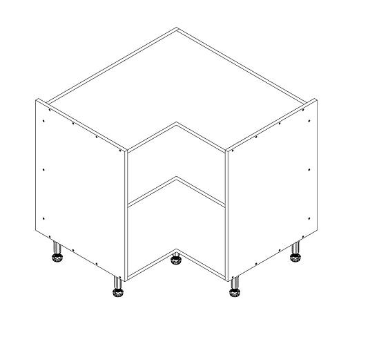 900mm L Corner Cabinet
