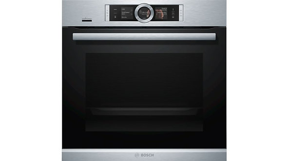 BOSCH HRG6769S6B Built-in Pyrolytic Single Electric Oven With Added Steam