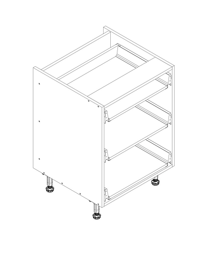 600mm 3 Drawer Pack