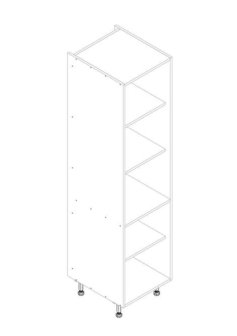 500mm Tall Larder Cabinet