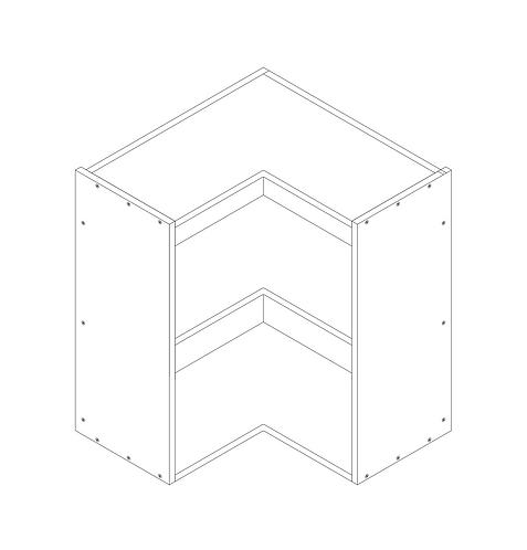 600mm L Corner Wall Cabinet