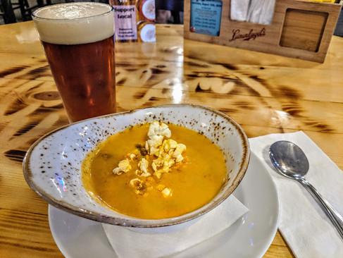 Cheesy Beer Brat Soup