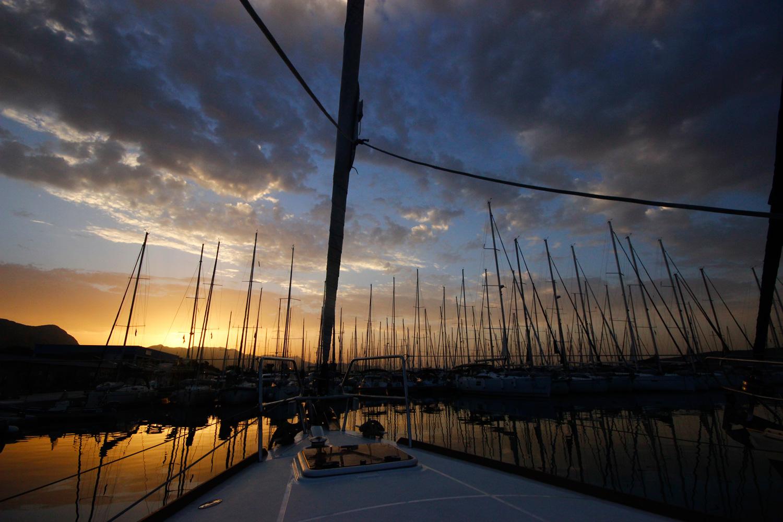 Sonnenaufgab in der Marina