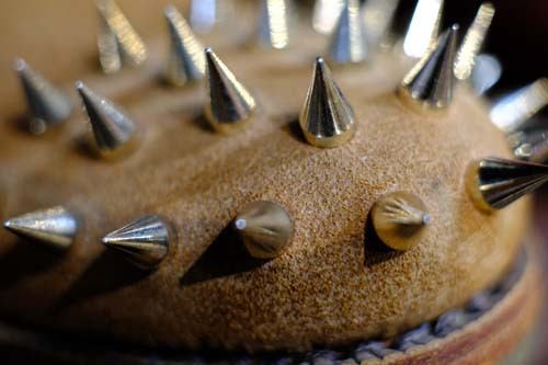 Spikey shoe close-up