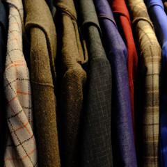 Close-up of shirts and jackets
