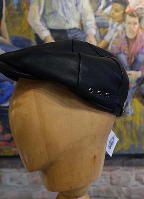 Black leather cigar cap