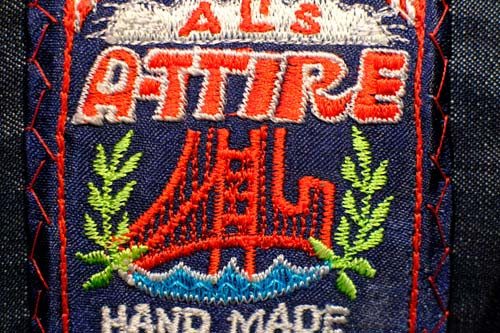 Al's Attire embroidered label