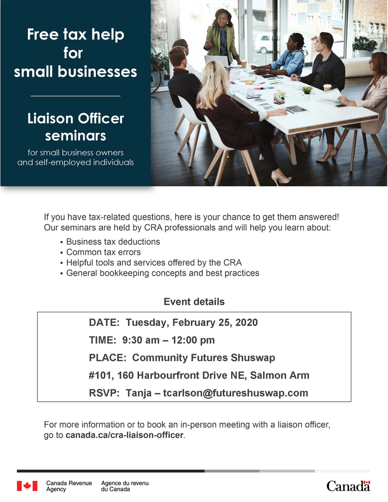 FREE TAX WORKSHOP FOR SMALL BUSINESSES
