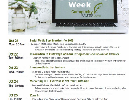 Small Business Week Workshops