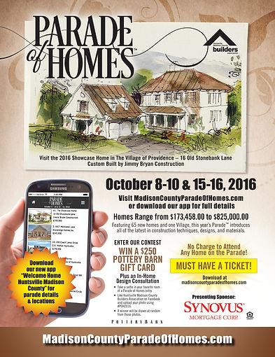 Parade of Homes ad