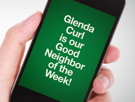 Our Good Call of the Week Goes to Glenda Curl.