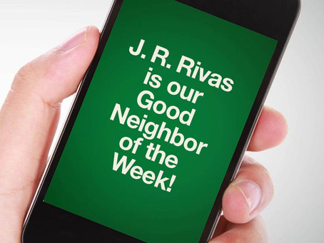 Our Good Call of the Week Goes to J. R. Rivas.