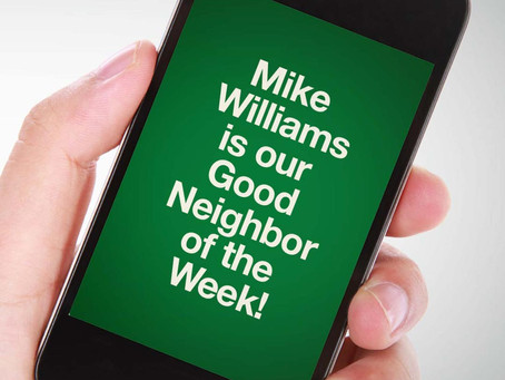 Our Good Call of the Week Goes to Mike Williams.