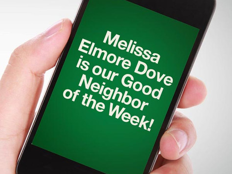 Our Good Call of the Week Goes to Melissa Elmore Dove