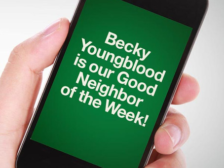 Our Good Call of the Week Goes to Becky Youngblood