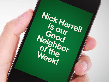 Our Good Call of the Week Goes to Nick Harrell.