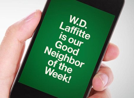 Our Good Call of the Week Goes to W.D. Laffitte