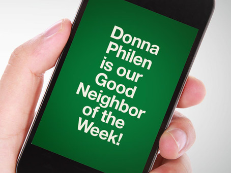 Our Good Call of the Week Goes to Donna Philen