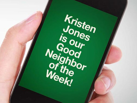 Our Good Call of the Week Goes to Kristen Jones.