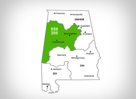 New Dialing Procedure for Customers with an Alabama 205 Area Code Beginning October 12