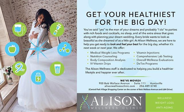 Alison Wellness Clinic Bridal Ad