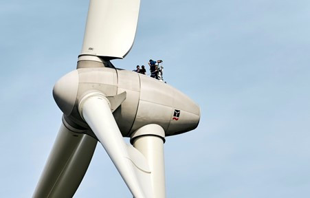 The relationship of wind turbines and human errors