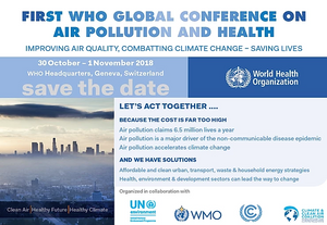 Presenting the first WHO Global Conference on Air Pollution and Health