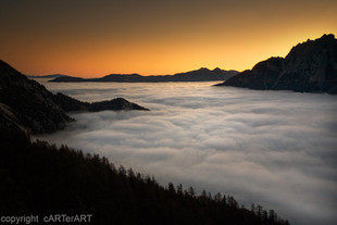 Julian Alps.Mists. Slovenia