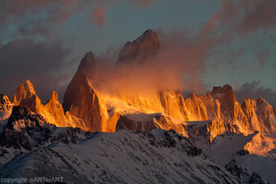 First Light on Fitz Roy