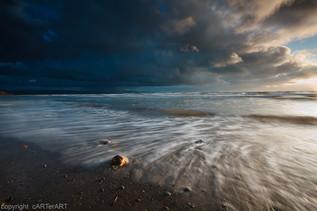 Criccieth Beach. Evening Storm