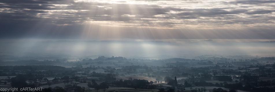 Mist over The West Midlands Panorama.