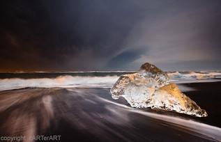 Ice Crystal on Beach
