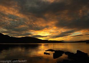 Trawsfynydd Lake. Sunset