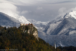 Lake Bled. First Snow